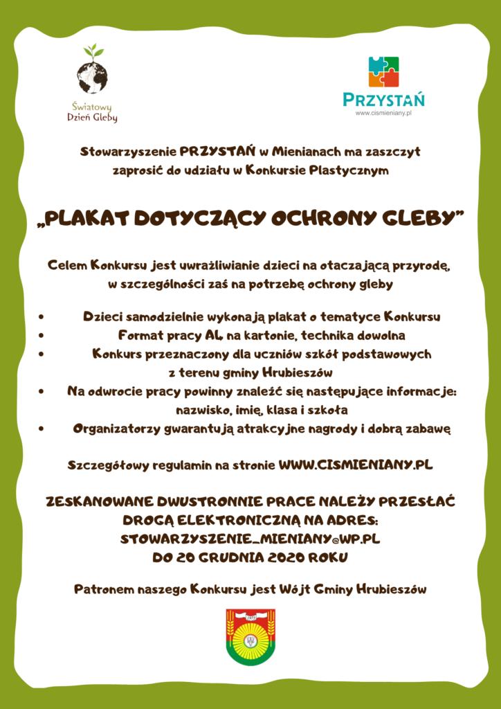 Plakat dotyczący ochrony gleby